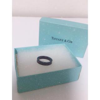 ティファニー(Tiffany & Co.)のTiffany&Co. ブラックチタン リング(リング(指輪))