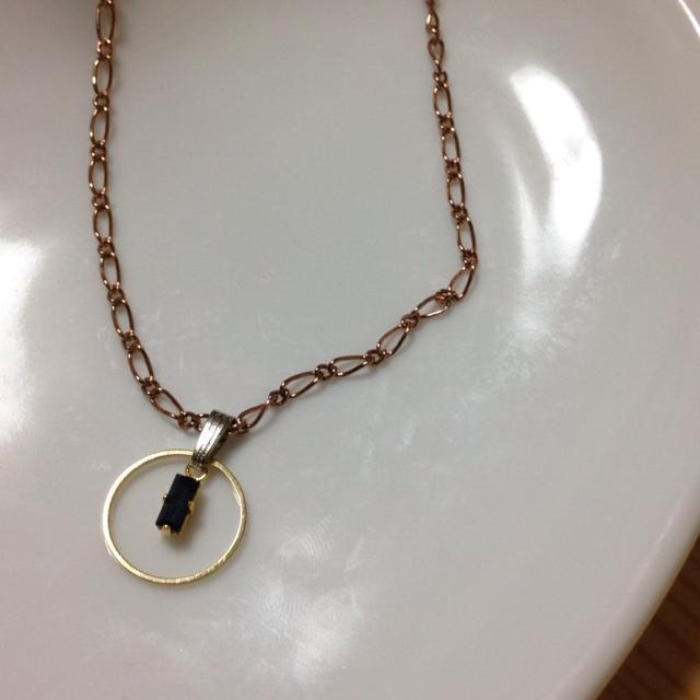 ハンドメイドリングネックレス。 ハンドメイドのアクセサリー(ネックレス)の商品写真