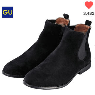 ジーユー(GU)の【k様◆26cm】GU ジーユー メンズ サイドゴアブーツ ブラック(ブーツ)