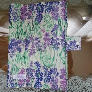 ノートカバー ローラアシュレイ 紫のお花(ブックカバー)