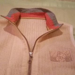 バジエスポーツ(VAGIIE SPORT)のバジエ…大人用白色編みベスト~男女兼用…サイズ46(ベスト)