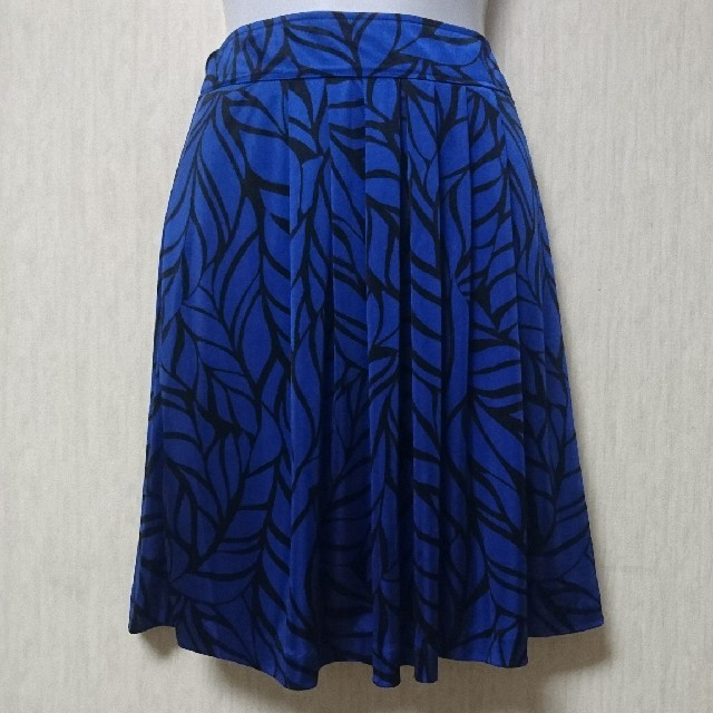 LE JOUR(ルジュール)のルジュール ロイヤルブルー膝丈フレアスカート レディースのスカート(ひざ丈スカート)の商品写真