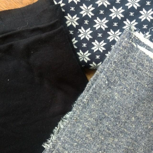 ニット生地セット 17 ネイビー  ハンドメイドの素材/材料(生地/糸)の商品写真