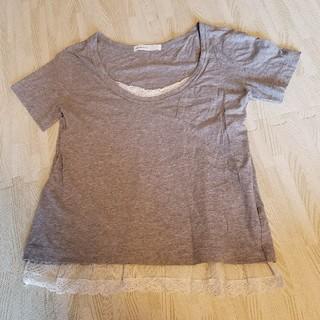 サカイラック(sacai luck)のsacai luck レースキャミドッキングTシャツ(Tシャツ(半袖/袖なし))