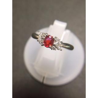 セール!!  pt900 オレンジサファイア ダイヤモンド リング(リング(指輪))