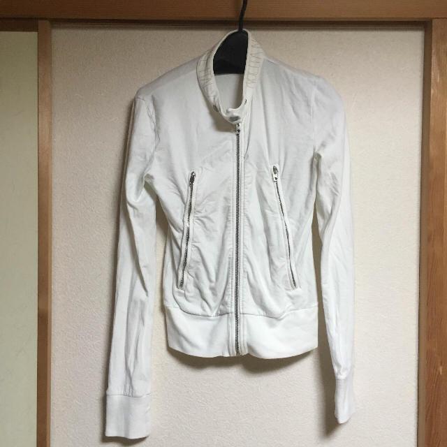 パーカー 上着 白 ホワイト シンプル 英語 かっこいい V系 ロック レディースのトップス(パーカー)の商品写真