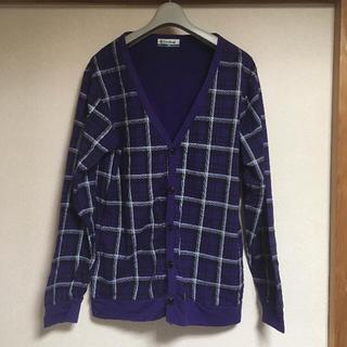 シマムラ(しまむら)の上着 カーディガン 紫 ギンガムチェック チェック(カーディガン)