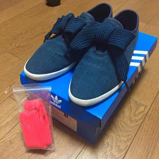 アディダス(adidas)の美品 値下げ可 アディダス リレースロー relace low リボン デニム(スニーカー)