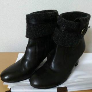 サヴァサヴァ(cavacava)のcavacava  サヴァサヴァ ショートブーツ 24.5 ブラック 黒 本革(ブーツ)