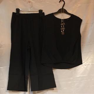 ●新品タグ付き☆黒セットアップ☆パンツドレス●(その他ドレス)