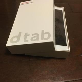 エヌティティドコモ(NTTdocomo)のd-01j dtab compact simロック解除済 未使用 送料込(タブレット)