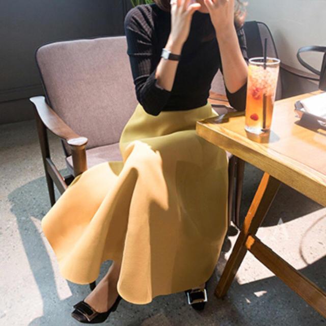 イエロー スカート レディース birthdaybash レディースのスカート(ひざ丈スカート)の商品写真