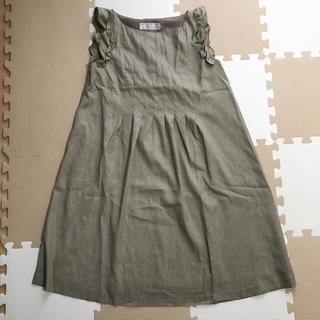 クチュールブローチ(Couture Brooch)のノースリーブワンピース♡フリル♡リボン(ひざ丈ワンピース)