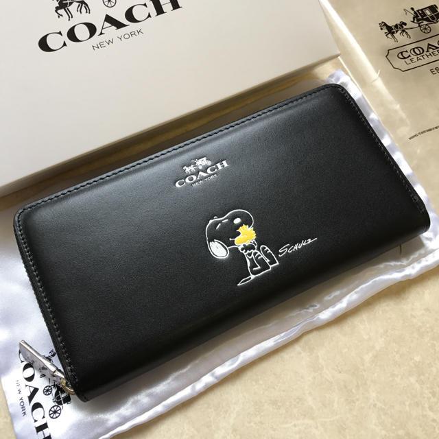 95071a2ac37c COACH(コーチ)のcoach 長財布 スヌーピー ブラック コーチ レディースのファッション小物(