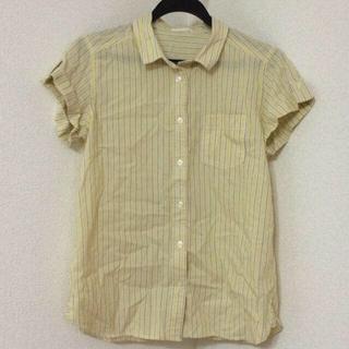 ジーユー(GU)のGU 今季 ストライプシャツ(シャツ/ブラウス(半袖/袖なし))