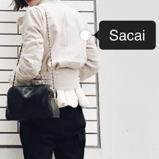 サカイ(sacai)の【m様専用】sacai サカイ ニット切替ブルゾン ライダース ジャケット(ライダースジャケット)
