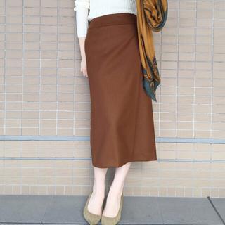 プラージュ(Plage)の2016AW★plage★WO ラップミディスカート ブラウン36(ひざ丈スカート)