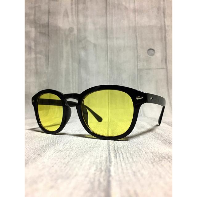 カシメ付き/ウエリントンタイプ/イエローライトレンズ/ レディースのファッション小物(サングラス/メガネ)の商品写真