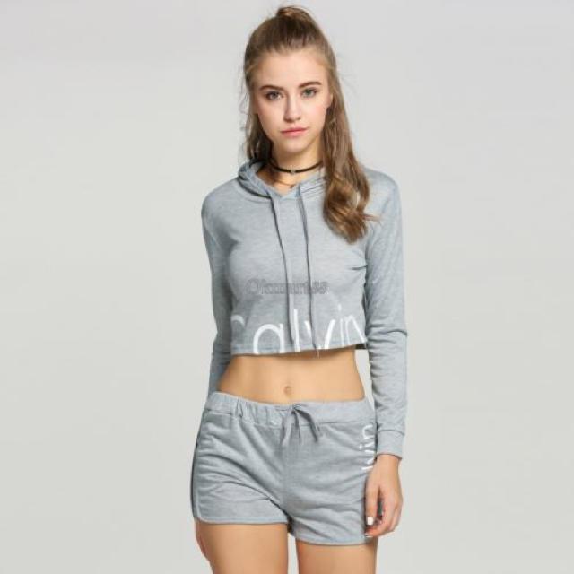 Calvin Klein(カルバンクライン)のブラック、グレー Sサイズ♡ レディースのルームウェア/パジャマ(ルームウェア)の商品写真