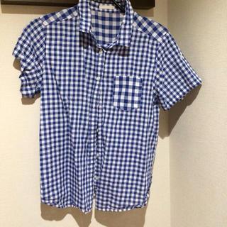 ジーユー(GU)のGU☆ギンガムチェックシャツ(シャツ/ブラウス(半袖/袖なし))