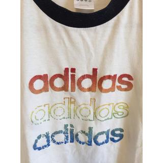 アディダス(adidas)のアディダス ロゴTシャツ(Tシャツ/カットソー(半袖/袖なし))