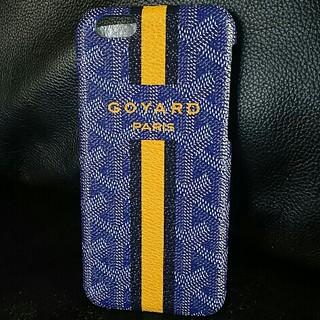 ゴヤール(GOYARD)のiPhone6 GOYARD レザー携帯カバー ブルー新品(iPhoneケース)