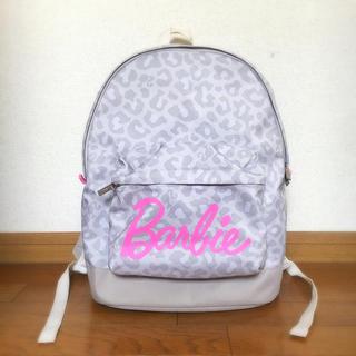 バービー(Barbie)の☆Barbie ピンク×グレーのレオパード柄リュック☆(リュック/バックパック)