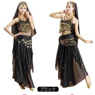 ハロウィン衣装 ベリーダンス 黒(衣装一式)