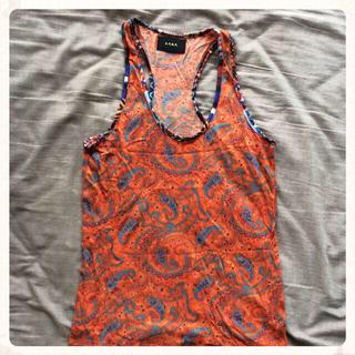ジーヴィジーヴィ(G.V.G.V.)のGVGV ノースリーブ ペイズリー柄(Tシャツ(半袖/袖なし))
