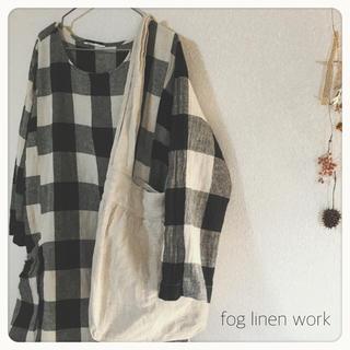 フォグリネンワーク(fog linen work)の▼fog linen work リネン100%バッグ▼(ショルダーバッグ)