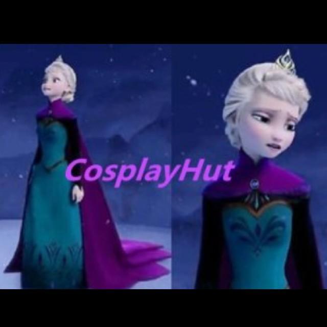 戴冠式 アナ雪 アナと雪の女王 エルサ ドレス コスプレ 大人 ハロウィン