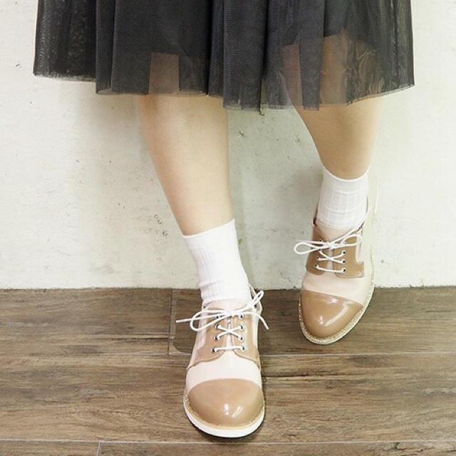 あしながおじさん(アシナガオジサン)の【byあしながおじさん】バイカラードレスシューズ レディースの靴/シューズ(ローファー/革靴)の商品写真