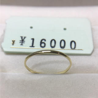 . K18 新品 未使用  19号 日本製リング プレゼントにも(リング(指輪))