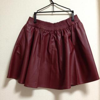 ローリーズファーム(LOWRYS FARM)のLOWRYSFARM レザースカート(ミニスカート)