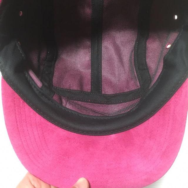 Supreme(シュプリーム)のSupreme 17ss Suede Camp Cap ピンク メンズの帽子(その他)の商品写真