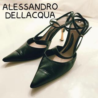 アレッサンドロデラクア(Alessandro Dell'Acqua)のALESSANDRO DELLACQUA♡38 レースアップ ベルト付きパンプス(ハイヒール/パンプス)