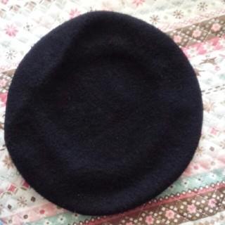 ウィゴー(WEGO)のベレー帽 ブラック(ハンチング/ベレー帽)