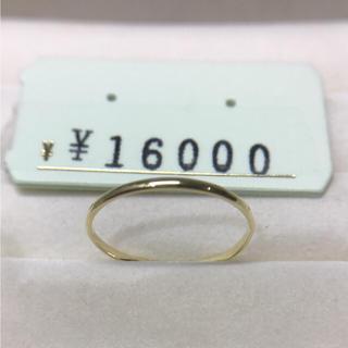 . K18 新品 未使用  20号 日本製リング プレゼントにも(リング(指輪))