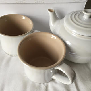 ルクルーゼ(LE CREUSET)のル・クルーゼ ティーポット&マグカップ2個セット(マグカップ)