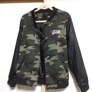 ヴァンズ(VANS)のバンズ ジャケット 迷彩レザー アウター XL ロデオ ベイフロー ステューシー(ミリタリージャケット)