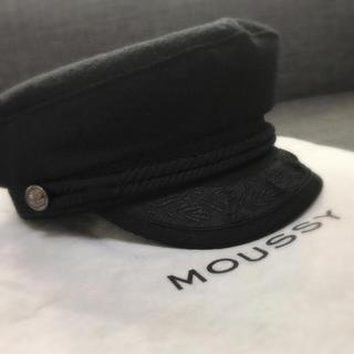 マウジー(moussy)のMOUSSY キャスケット black(キャスケット)
