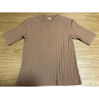 ジーユー(GU)のリブTシャツ(Tシャツ(半袖/袖なし))