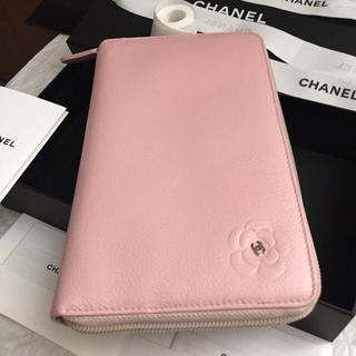 シャネル(CHANEL)のまーたん様専用❗️⭐︎CHANEL長財布⭐︎カメリア🌸オーガナイザー⭐︎ピンク(財布)