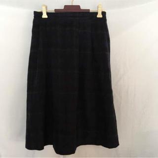 ハニーズ(HONEYS)のチェック 膝下スカート(ひざ丈スカート)