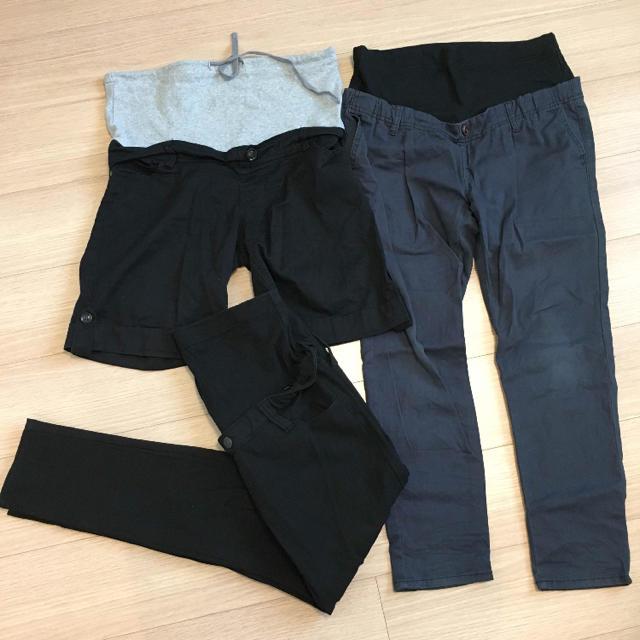 MUJI (無印良品)(ムジルシリョウヒン)の妊婦服 3点セット マタニティウェア キッズ/ベビー/マタニティのマタニティ(マタニティウェア)の商品写真