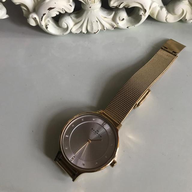 SKAGEN(スカーゲン)のSKAGEN ゴールド 腕時計 レディースのファッション小物(腕時計)の商品写真