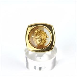 ジャンニヴェルサーチ(Gianni Versace)のヴェルサーチ ゴールドリング メデューサ 16号 イタリア 正規品☆E115(リング(指輪))