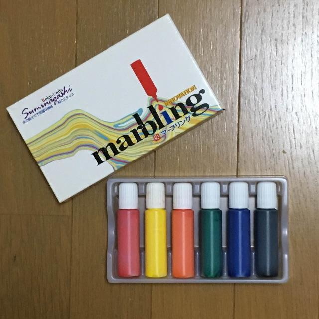 絵の具 マーブリング