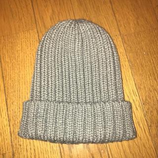 ジーユー(GU)のGU ジーユー ニット帽 キッズ グレー(帽子)