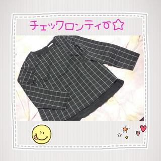 ハニーズ(HONEYS)の☆..チェック柄ロンティー..☆(カットソー(長袖/七分))